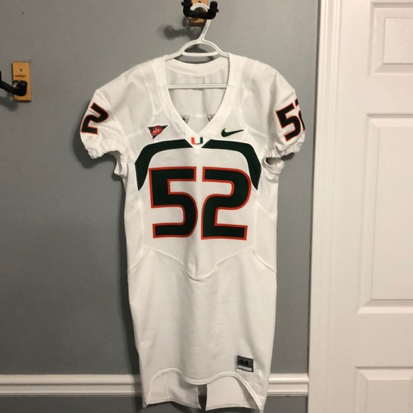 online retailer 06a0d 59e4c Miami Hurricanes Denzel Perryman Game Used Jersey